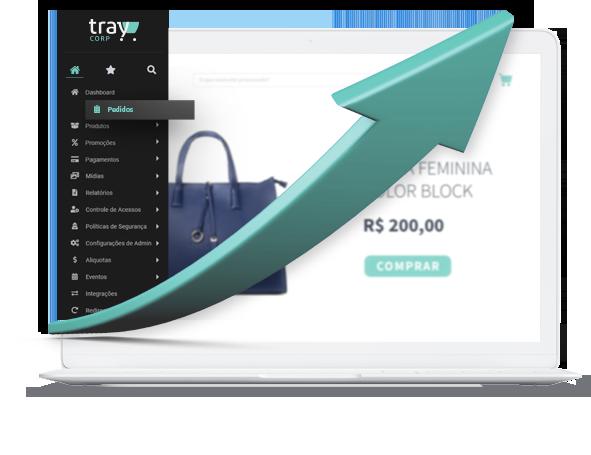 A plataforma de e-commerce para negócios sem limites para crescer