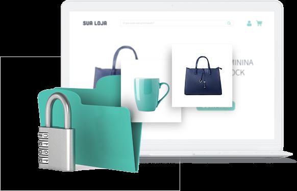 Um catálogo de produtos seguro